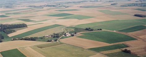 Vue aérienne unique de la Plaine de Boneffe