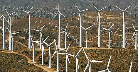 Paysage détruit par les champs éoliens - Non à la prolifération anarchique des parcs éoliens industriels dans nos campagnes