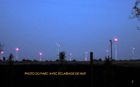 Eoliennes à Perwez: 9 flashs ultra lumineux