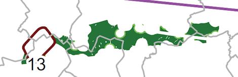Zoom sur Boneffe - Carte du cadre éolien wallon